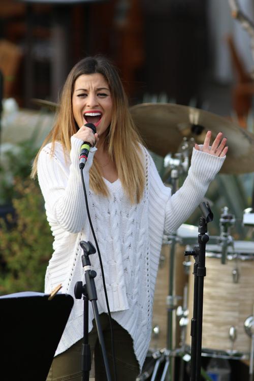 Julia Benedetti singing! photo by Kevin Kinnear