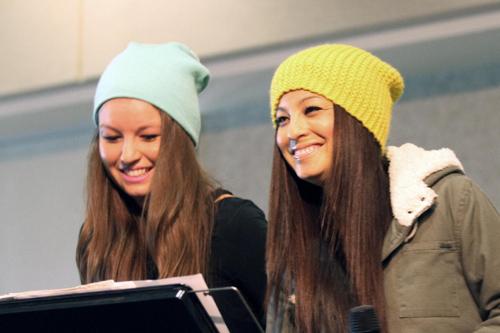 Regina and Julia Benedetti sporting some rad hats!